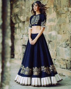 Latest crop top lehengas for Parties